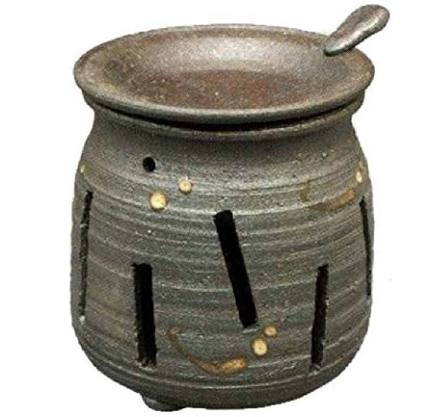 空ビルダー乳剤常滑焼?焜清 カ39-07 茶香炉 焼締め 約φ9×9.7cm