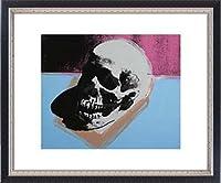ポスター アンディ ウォーホル Skull 1976 額装品 マッキアフレーム-S(ブラックシルバー)