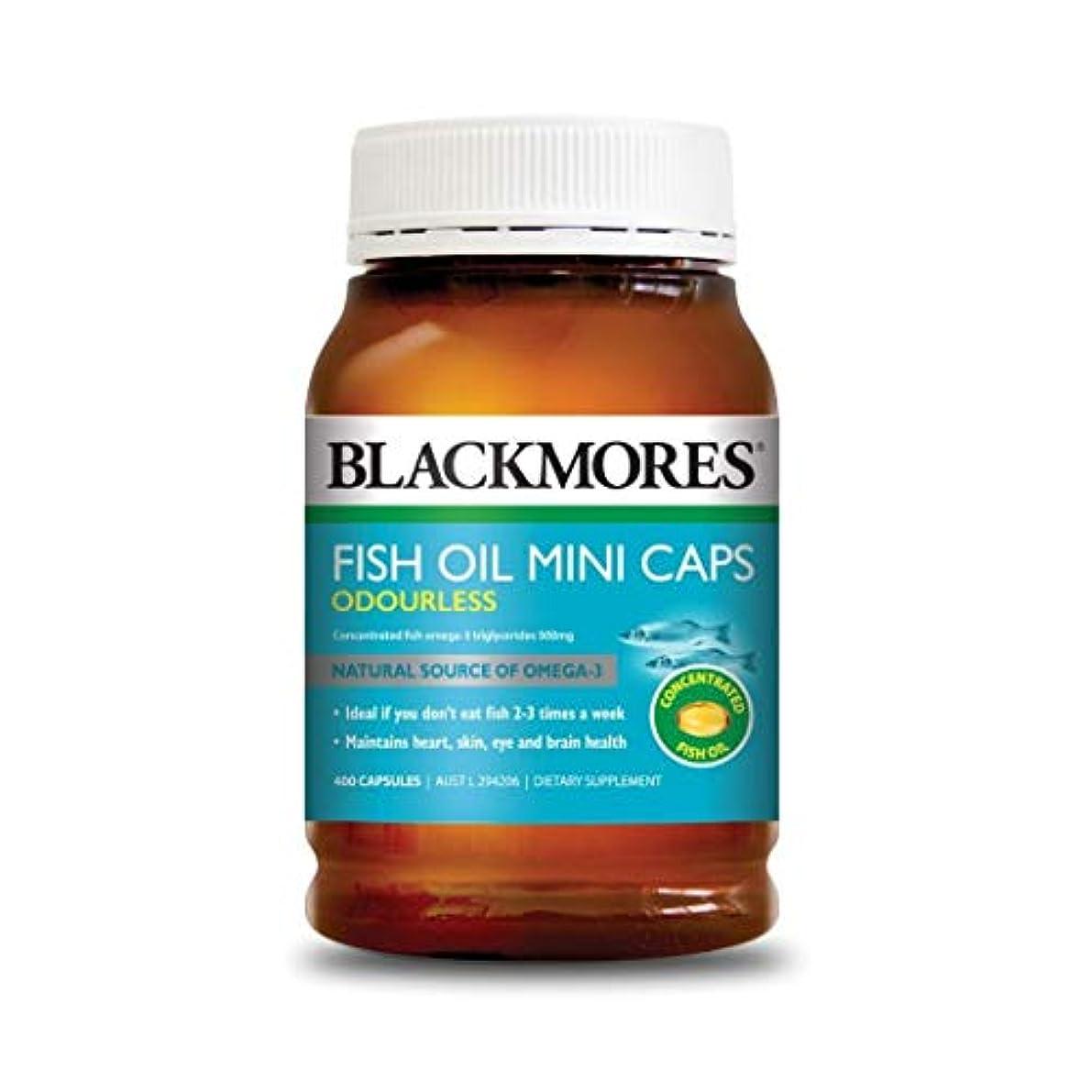 プラグカップル無視する[BLACKMORES] フィッシュオイル ミニカプセル (FISH OIL MINI CAPS ODOURLESS) 400粒 [海外直送品]