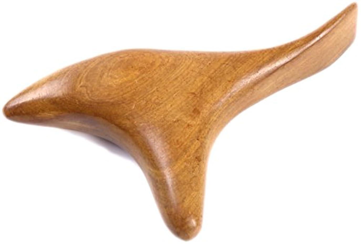 課税誰水曜日ツボ押し棒 持ちやすく押しやすい特殊な形の天然木マッサージ棒 足裏?足ツボを女性でも強く指圧?カーブがフィットする絶妙なツボ押しグッズ 自分でも夫婦でも 不思議な一本
