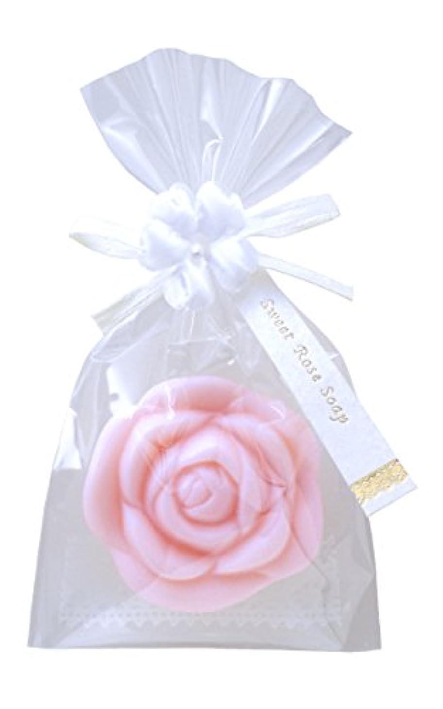 幽霊遺伝的花弁かわいくて優雅なフォルム スイートローズソープ 約119×79×26mm #ROS (ピンク)