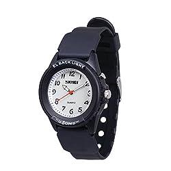 WOLFTEETH 男の子 腕時計 子供用 スポーツウォッチ クオーツ アナログ 夜光 アラビア数字 防水 3052