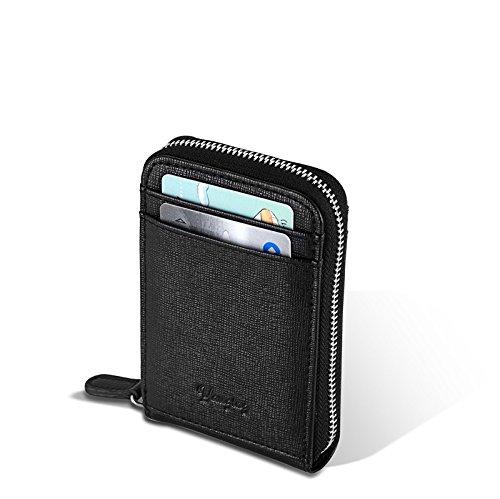 YAUGING カード入れ オン式カードホルダー レザーカードケース 本革 財布 コンパクト シンプル 名刺入れ 小銭入れ 収納コーディ
