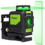 Huepar 5ライン グリーン レーザー墨出し器 緑色 レーザー クロスラインレーザー 自動補正機能 高輝度 高精度 ミニ型 ライン出射角水平 ライン360°縦ライン130° 4方向大矩照射