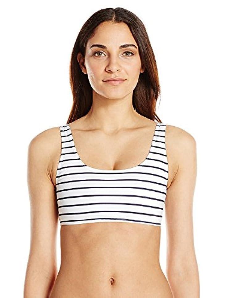 傾向があるコーチ中級French Connection Women's Scoop Tank Bikini Top Stripe XS [並行輸入品]