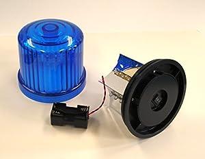 新型・LED回転灯 青色【回転・点滅】 電池式MK-Ⅱ 強力マグネット付 単3x4本 LS-HKZ0043