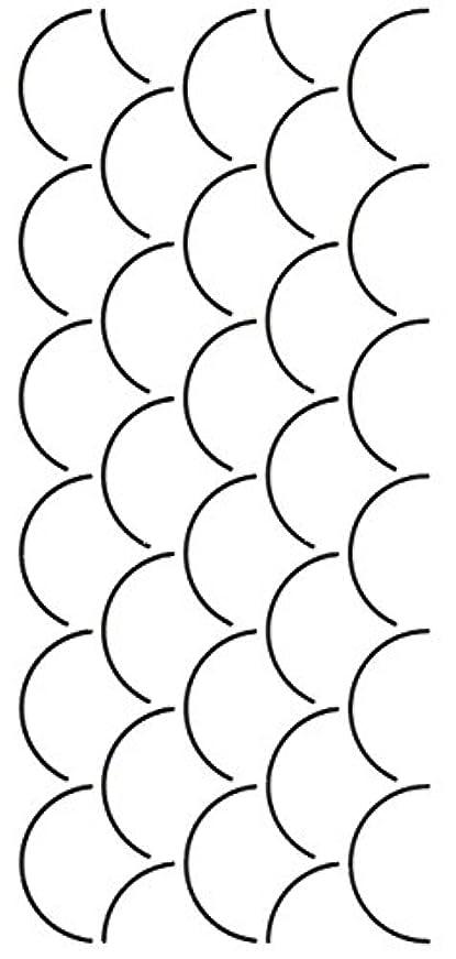 滝拮抗叙情的なQuilting Creations Clam Shell Quilt Stencil by Quilting Creations