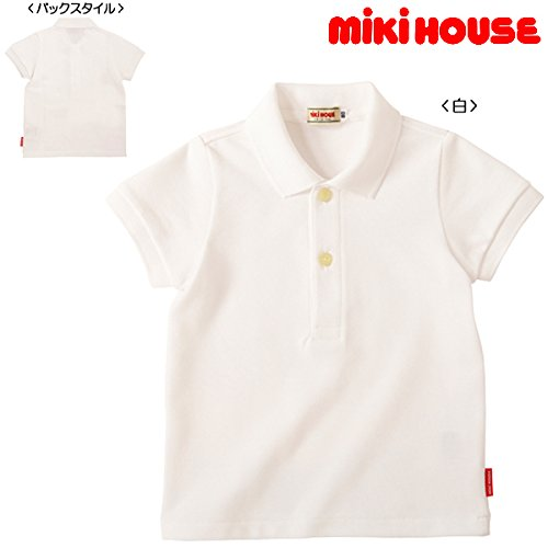 ミキハウス(MIKIHOUSE)EveryDaymikihouse半袖ポロシャツ130白(01)