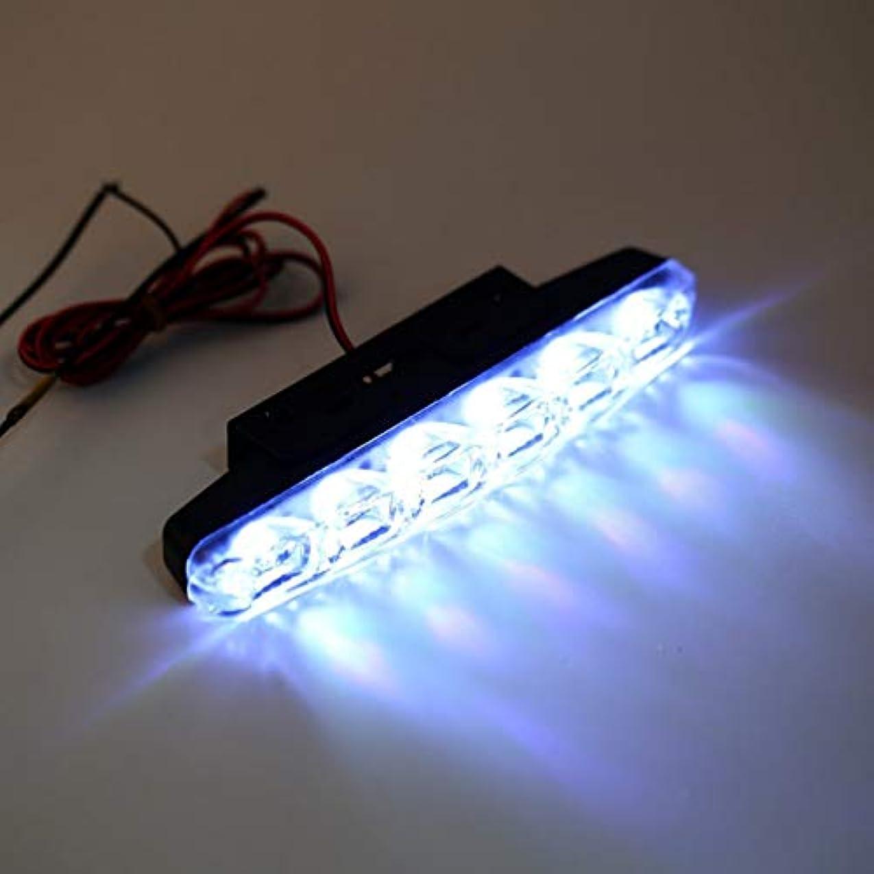仕事に行く出撃者ハックドライビングライトフォグランプを実行キセノンホワイト6 LEDスーパーブライトDRL昼間の2倍
