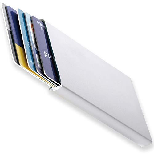 BLUE SINCERE カードケース 磁気防止 スキミング防止 薄型 スライド式 アルミニウム 5枚収納 メンズ CDC1 (スマートシルバー)