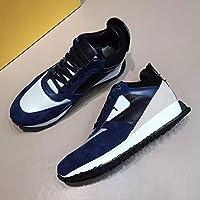 英国のファッションカジュアルシューズの男性は靴のパンを実行している小さなスポーツをステッチ色を打ちます