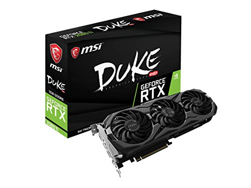 MSI Gaming GeForce RTX 2080 Ti 11GB GDRR6 352-bit VR Ready Graphics Card (RTX 2080 Ti Duke 11G OC)