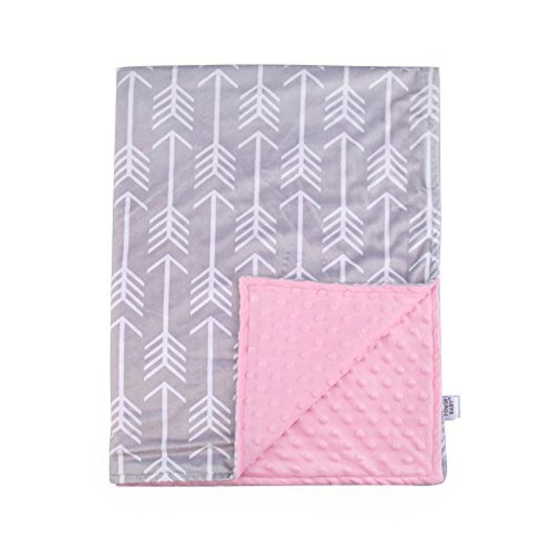 Towin Baby Arrow Minky Receiving Blanket, Pink 29x40 by TOWIN BABY