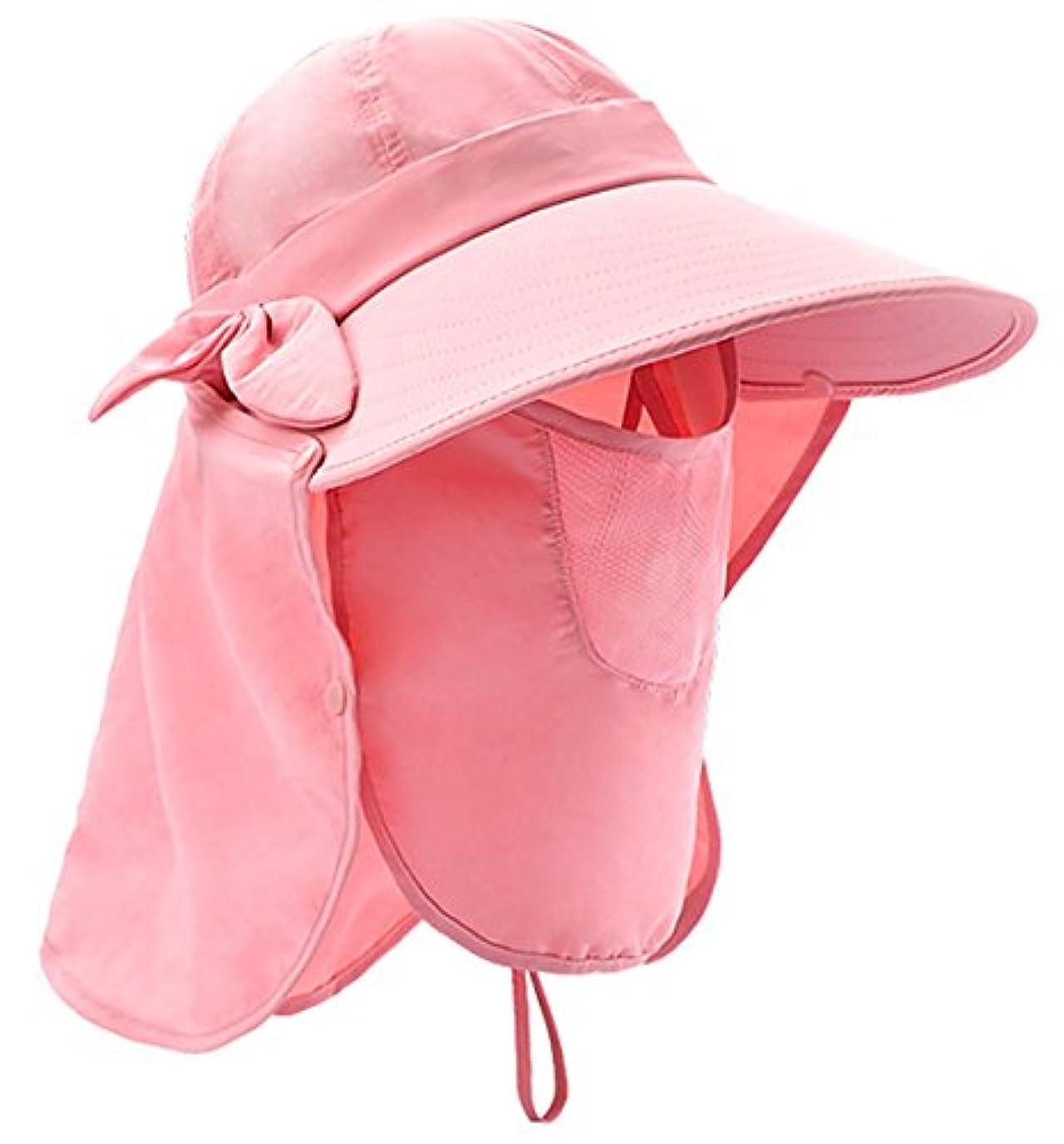 確認する守る飼料Panegyレディースサンハットアウトドア夏キャンプ釣りビーチ帽子キャップネックコード付き360 ¡ ã UPF 50 +