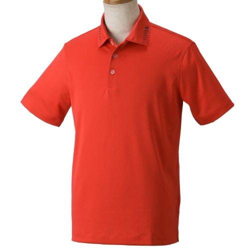 (ナイキゴルフ)NIKE Golf ボディマッピンググラフィックSSポロ 456921 607 アクションレッド/モンスーンブルー* L