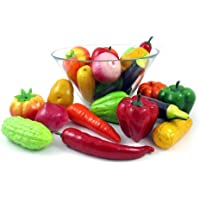 [リバティインポート]Liberty Imports Set of 24 Realistic Artificial Vegetables Play Food Set 2067 [並行輸入品]