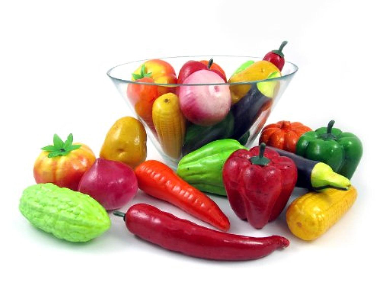 [リバティインポート]Liberty Imports Set of 24 Realistic Artificial Vegetables Play Food Set 2067 [並行輸入品]