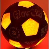 GlowCityサイズ3つLight Up LED Soccer ball-uses 2つhi-bright LEDライト