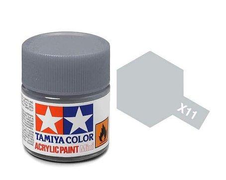 タミヤカラー アクリルミニ 光沢 X11 クロームシルバー 10ml 81511