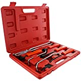 ABN Universal Drum Brake Puller 8-Piece Set with Carrying Case ? Master Removal Tool Kit for Automotive Drum Brakes