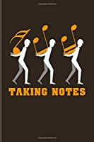 Taking Notes: Music Staff Paper Book For Musicians, Notes & Song Writer | 6x9 | 100 pages