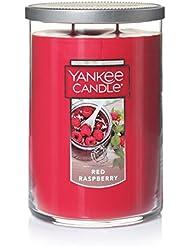 Yankee Candleレッドラズベリーティーライトキャンドル、フルーツ香り Large 2-Wick Tumbler Candle レッド 1323195