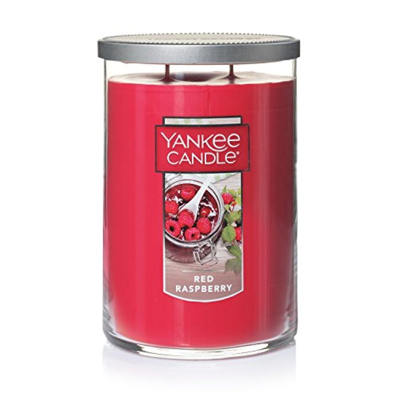 挽くレモン実業家Yankee Candleレッドラズベリーティーライトキャンドル、フルーツ香り Large 2-Wick Tumbler Candle レッド 1323195
