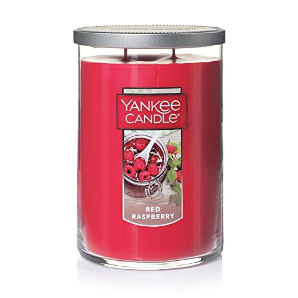 乳白色目的累計Yankee Candleレッドラズベリーティーライトキャンドル、フルーツ香り Large 2-Wick Tumbler Candle レッド 1323195