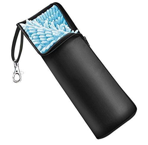 Agedate 折りたたみ傘カバー 2面超吸水 傘ケース 携帯便利 ブラック