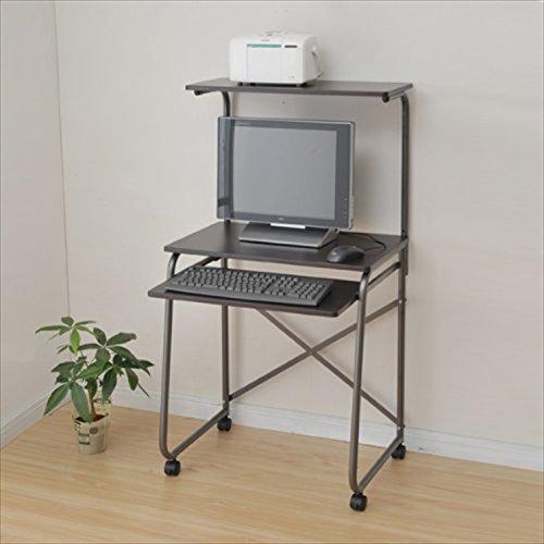 山善(YAMAZEN) サイバーコム パソコンデスク(幅65) ダークブラウン GHP-65HC(MBR/MBR)
