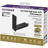 NETGEAR WiFi USB Adapter AC1200 Dual Band, USB 3.0, 802.11ac (A6210-10000S)