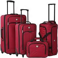 Travelers Club 4 Piece The Euro Expandable Luggage Set