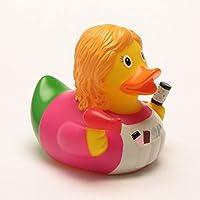 DUCKSHOP   Hairdresser Rubber Duck   Bathduck ゴム製のアヒル  L: 8,5 cm