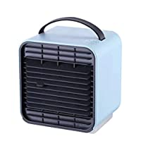 WPQW 扇風機 - ファンマイナスイオン空調ファンUSB小型ファンミニミュートポータブルポータブルハンドヘルドオフィスハンドクリップタイプ小型小型電動ファン - 扇風機 (色 : 青)