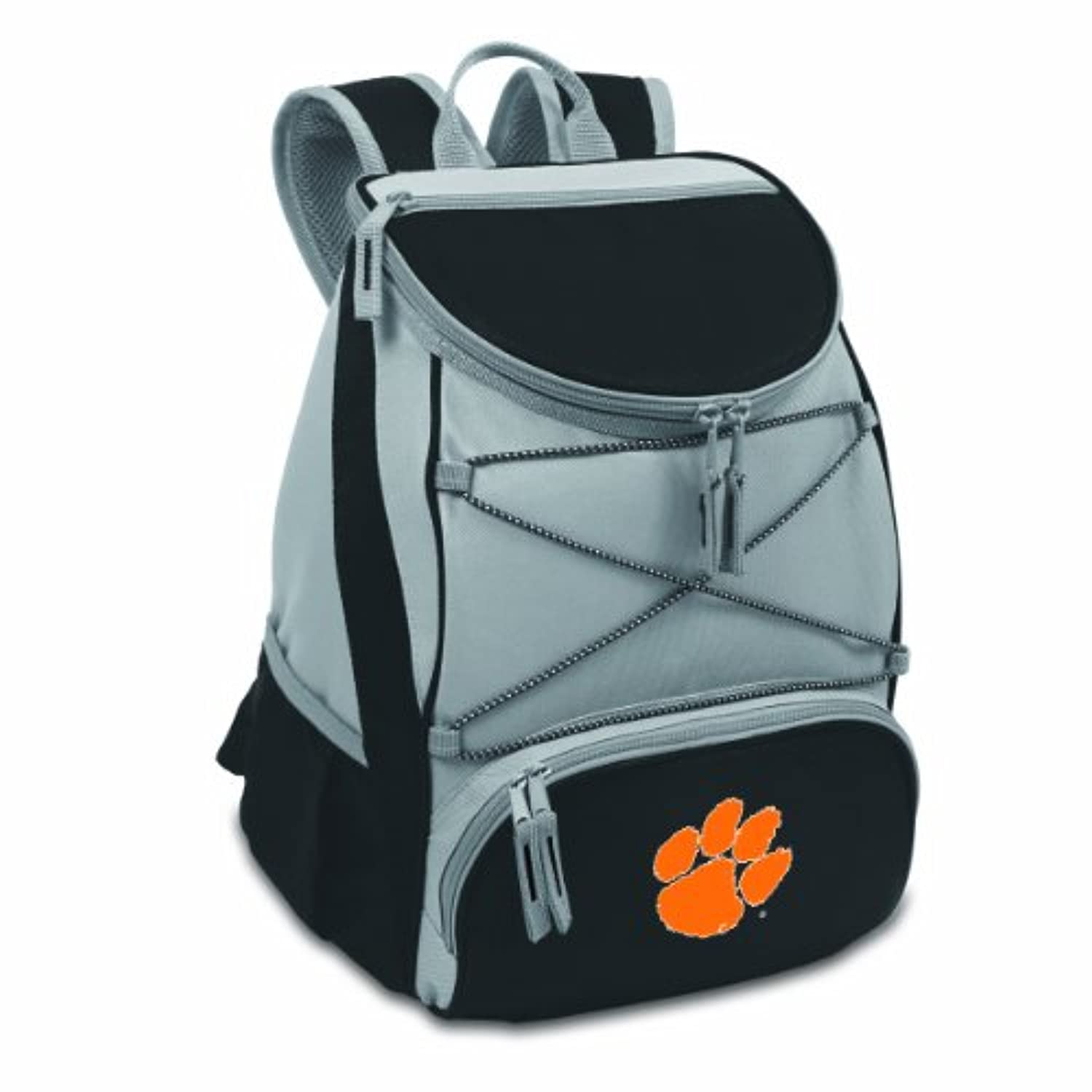 NCAA Clemson Tigers PTX InsulatedバックパックCooler ,ブラック, Regular