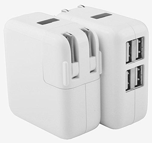 USB 充電器 4ポート折り畳式プラグ 持ち運び便利 PCとiPhone&Androidとの互換性 110-240V