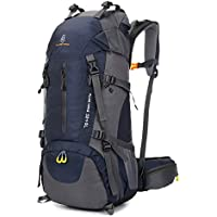Honeytecs Hiking Backpack Water-Resistant Outdoor Sport Trekking Mountaineering Travel Backpack with Shoe Compartment for Men and Women 60L