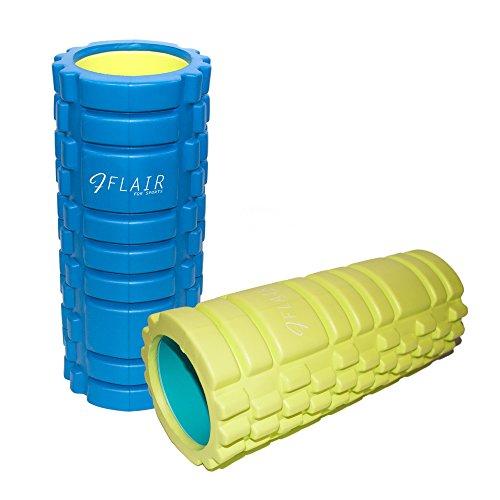 FLAIR (フレア) フォームローラー 高品質 プロアスリートから運動初心者まで マッサージ・ストレッチに最適 肩こり・腰痛・姿勢改善に EVA素材・ABS樹脂素材使用