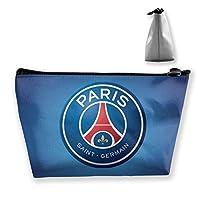 Paris Saint-Germain F.C. 化粧ポーチ 人気 大容量 台形 メイクポーチ トラベルポーチ 旅行 ハンドバッグ コスメ コイン 鍵 小物入れ 化粧品 収納ケース 小さな化粧品の袋