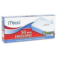 (ミード) Mead Press-It Seal-It 封筒 洋型10号 テープ付き 白色 1箱50枚入り(75024) Pack Of 12