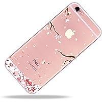 SevenPanda iPhone 6 Plus/iPhone 6S Plusケース透明シリコーンソフトTPU保護ケース花ケース(iPhone 6 Plus / 6S Plus花) - 桃の花07