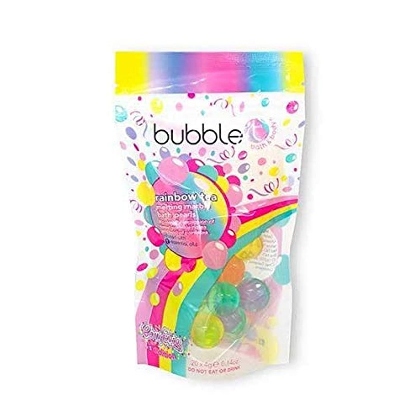 名誉デュアル水っぽい[Bubble T ] バブルトン化粧品溶融槽真珠虹茶20×4グラム - Bubble T Cosmetics Melting Bath Pearls Rainbow Tea 20 x 4g [並行輸入品]