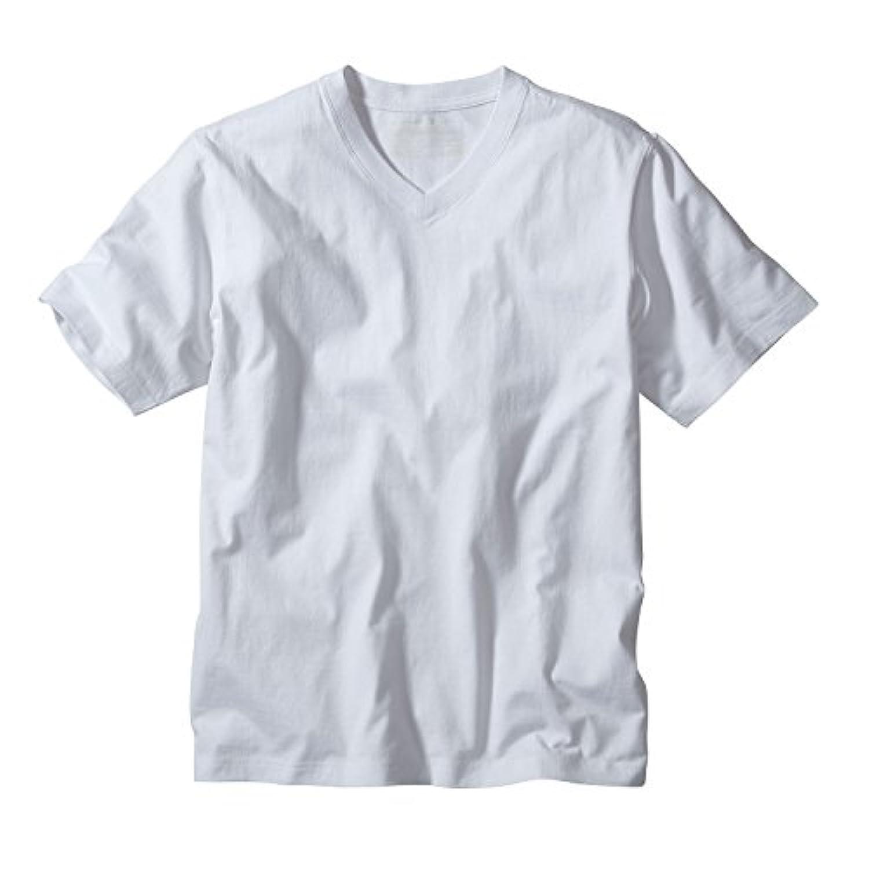 ステープル桁出くわす(エディー?バウアー) Eddie Bauer メンズ Tシャツ 半袖ベーシックVネックTシャツ