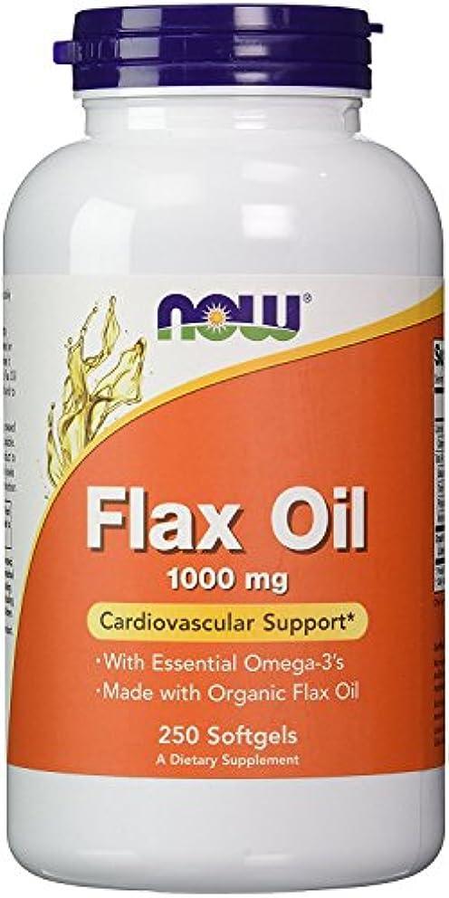 地域どれでも地震NOW Foods 【大容量】フラックスオイル(亜麻仁) 1000mg 250粒 Flax Oil 1000mg [並行輸入品]