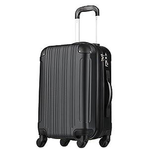 スーツケース (Sサイズ(3~5泊/47(拡張時56)L), ブラック)