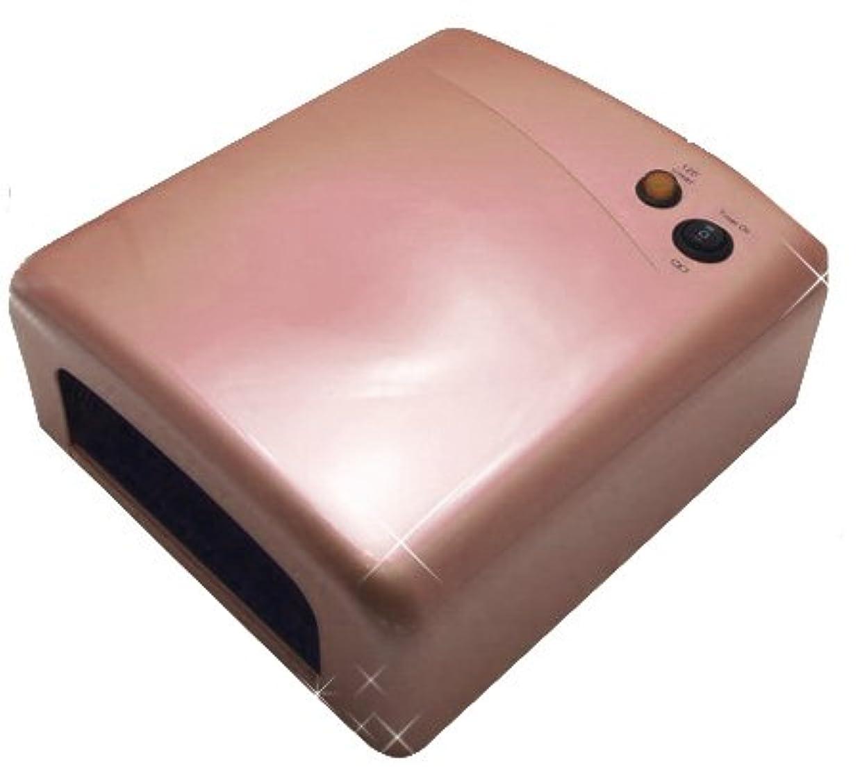 あらゆる種類の浴室怠☆ハイパワージェルネイル用 36WUVライト 軽量☆ (ベビーピンク)