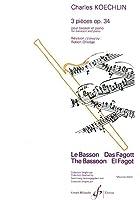 ケックラン : 3つの小品 作品34 (ファゴット、ピアノ) ビヨドー出版
