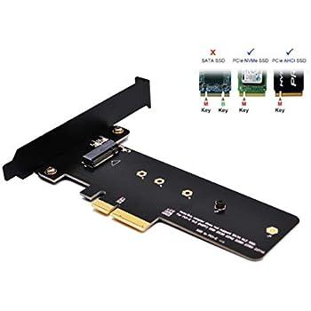 EasyDiy PCI-Express x4接続 M.2スロット増設インターフェースボード M.2-PCIEPCIe x4のアダプタへのPCI Express M.2 SSD NGFFのPCIeカード(M.2 PCIe 22110,2280, 2260, 2242 サポート