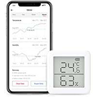 SwitchBot スイッチボット デジタル 溫濕度計 スマート家電 – 高精度 スイス製センサースマホで溫度濕度管理 アラーム付き グラフ記録 Alexa, GoogleHome, IFTTT対応 (ハブ必要)
