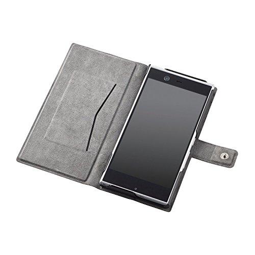 ELECOM ARROWS NX F-02H レザーケース 手帳型 横フラップ スナップ付 薄型 レッド  PD-F02HPLFURD